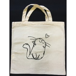 Tote Bag inspiration Chat Coeur